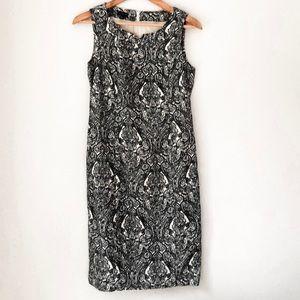 Talbots Black and White Straight Dress Size 6